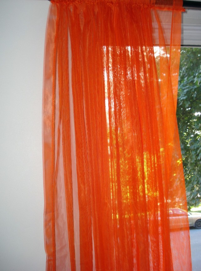 Burnt Orange Curtain Panels