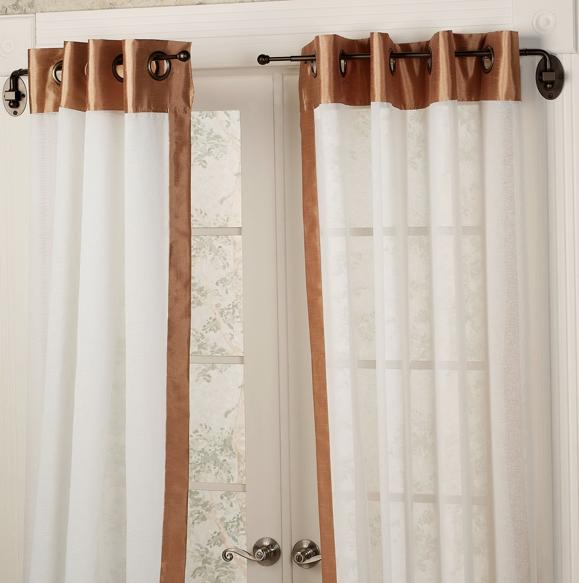 Cafe Curtain Rods For Doors