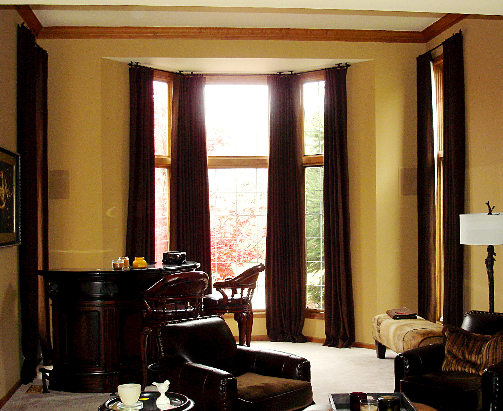 Ceiling Mounted Curtain Track Bay Window
