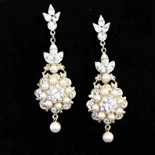 Chandelier Crystal Earrings Wedding