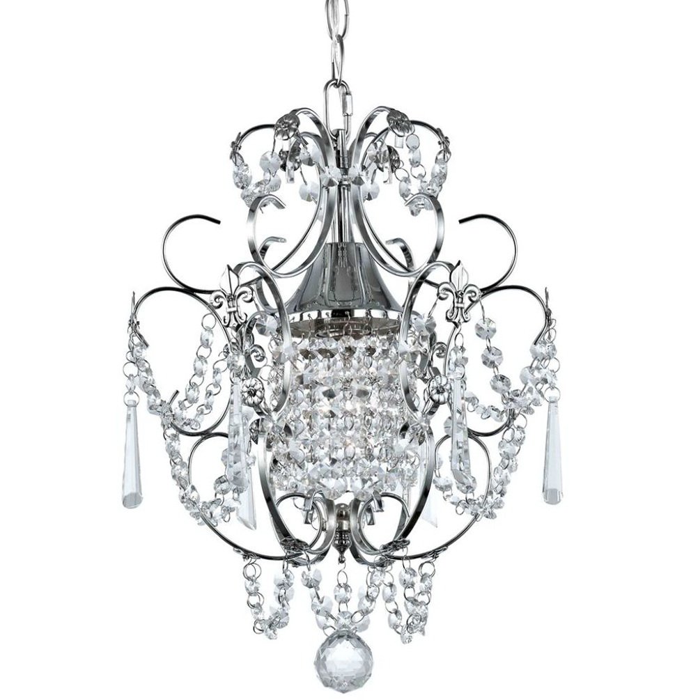Chrome And Crystal Mini Chandelier