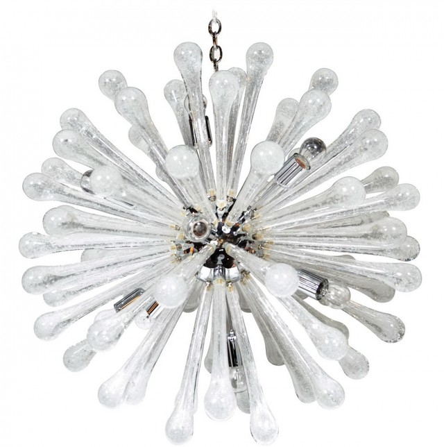 Clear Glass Chandelier Modern