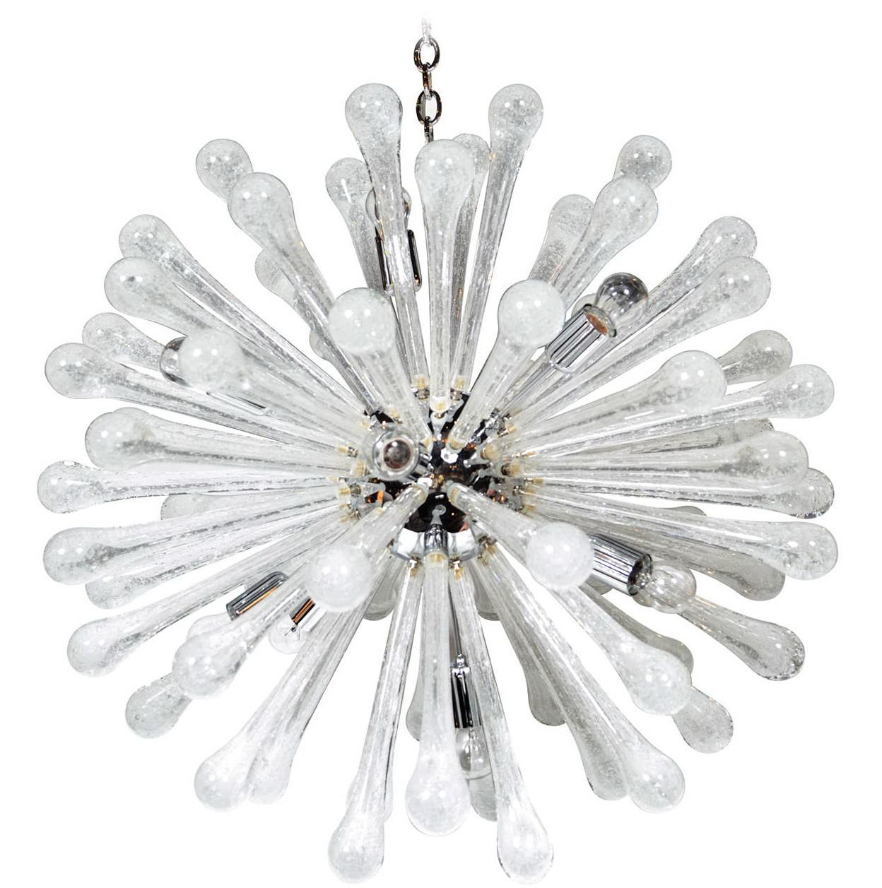 Clear Glass Chandelier Modern