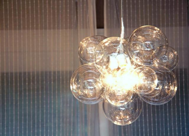 Clear Glass Sphere Chandelier