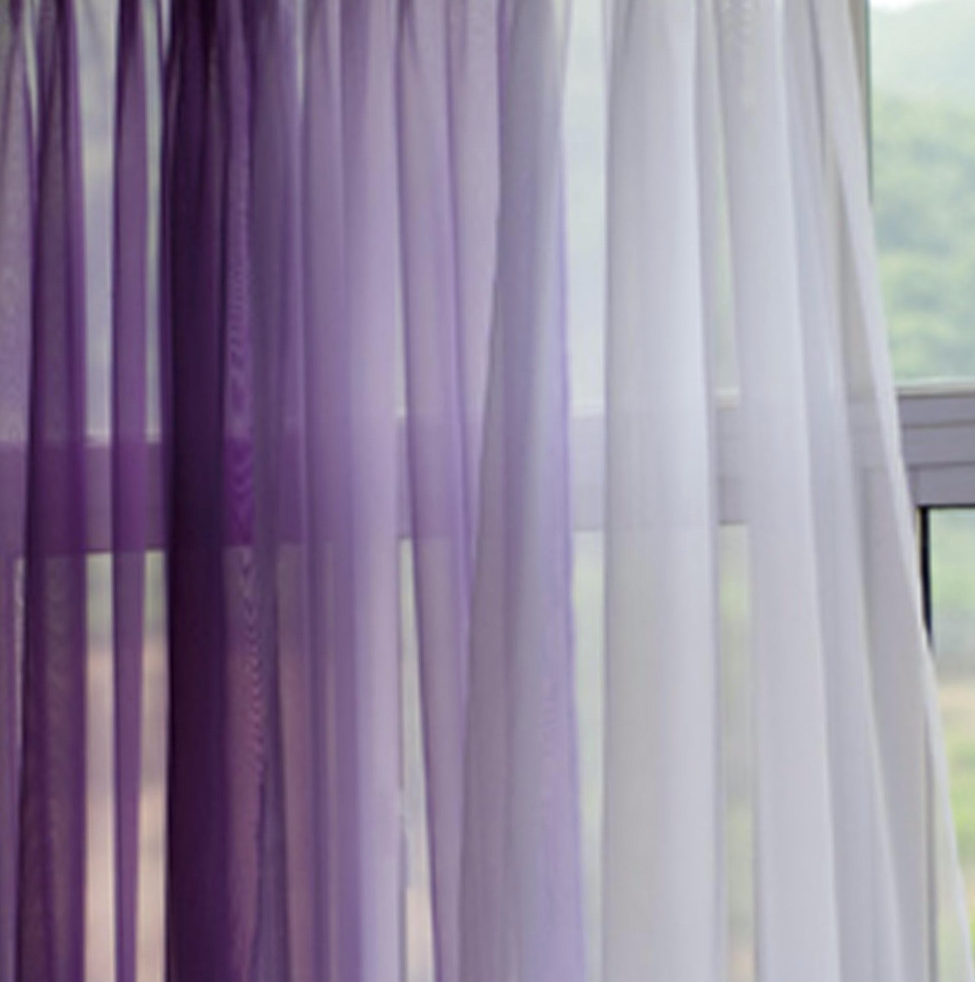 Coloured Sheer Curtain Fabric