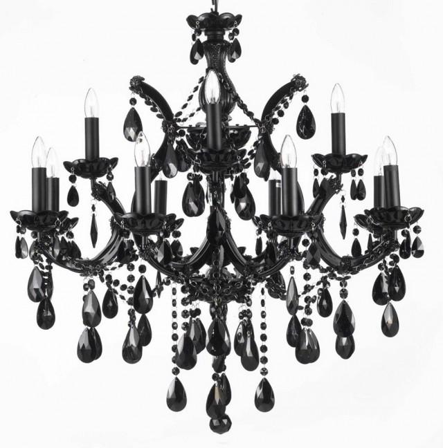 Contemporary Black Chandelier Lighting
