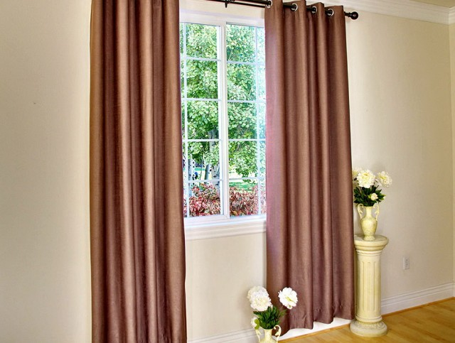 Contemporary Grommet Curtain Panels