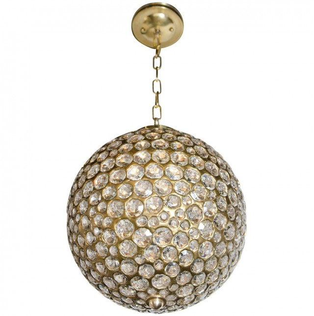 Crystal Ball Pendant Chandelier
