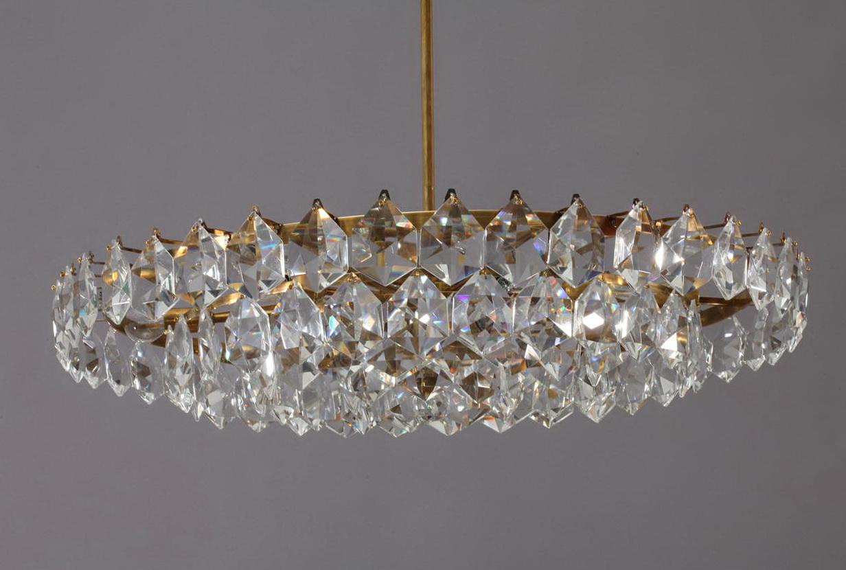 Crystal Glass Drop Chandelier