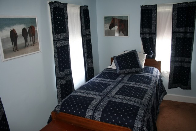 Dark Blue Patterned Curtains