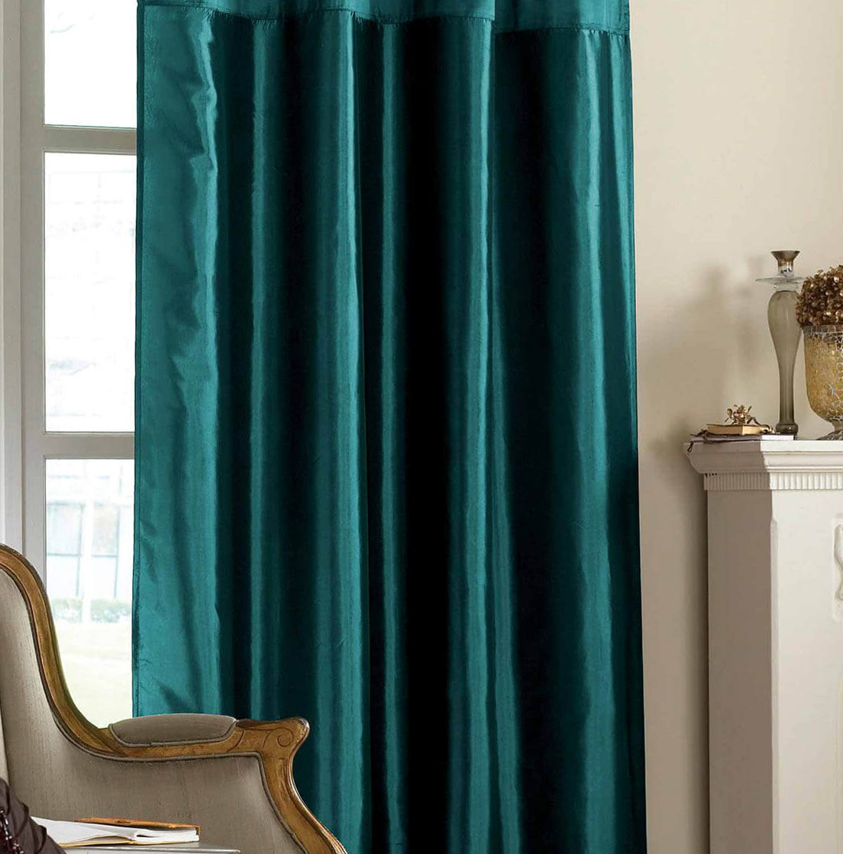 Dark Teal Curtain Panels