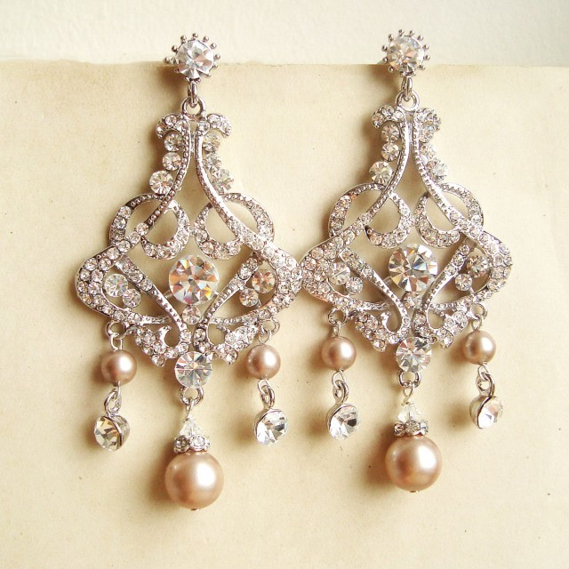 Diamond Chandelier Earrings For Wedding