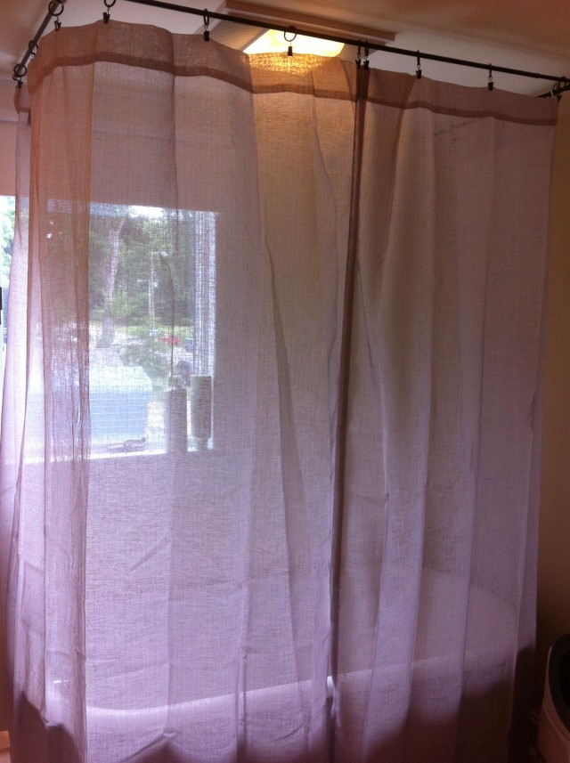 Diy Shower Curtain Rod For Clawfoot Tub