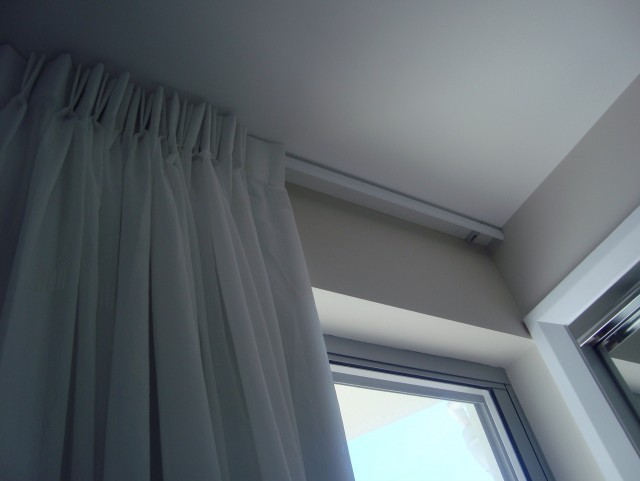 Double Curtain Track Ceiling Mount
