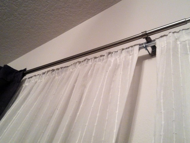 Double Window Curtain Rods