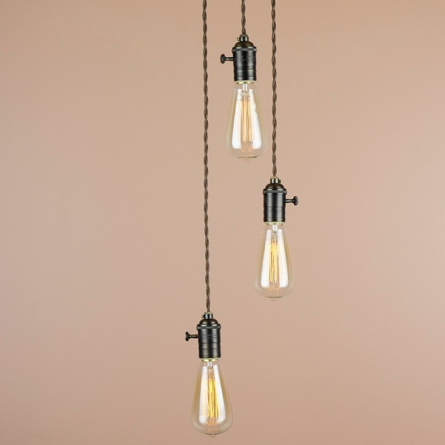 Exposed Light Bulb Chandelier