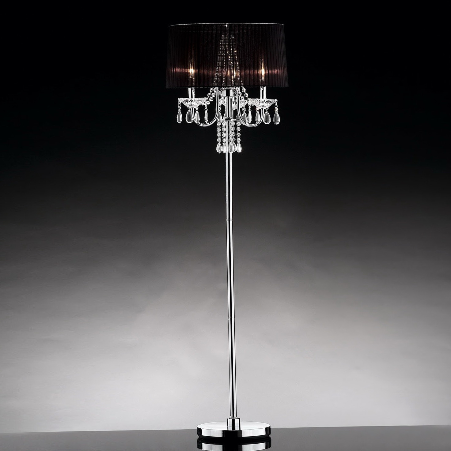 Floor Lamp Chandelier Crystals