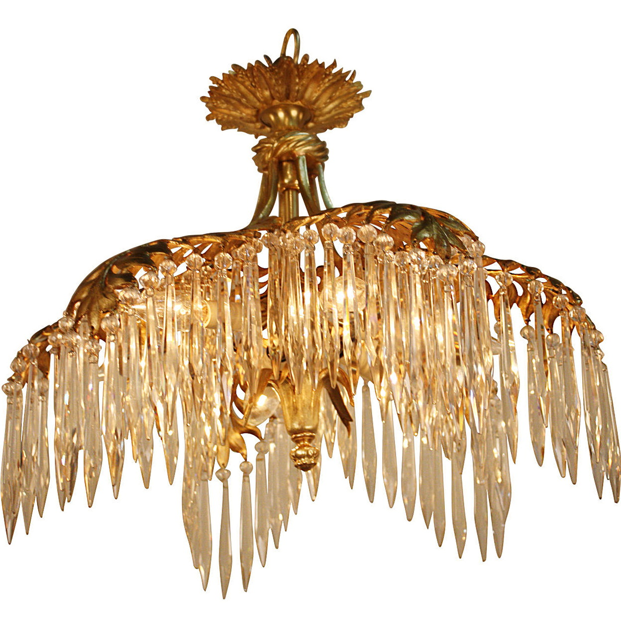 Flush Mount Chandelier Bronze