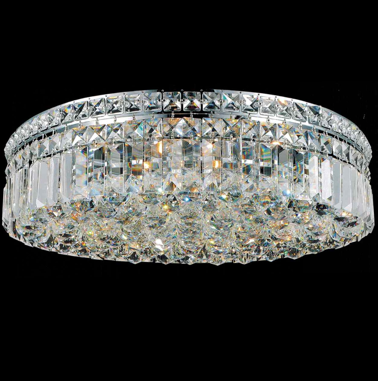 Flush Mount Chandelier Crystal