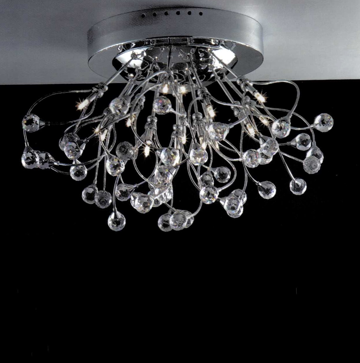 Flush Mount Chandelier Modern