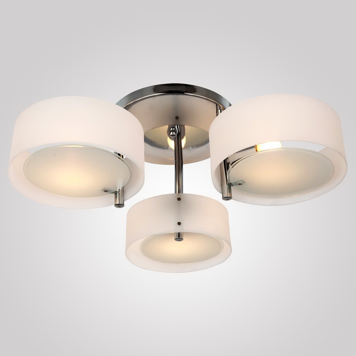 Flush Mount Chandelier With Shade