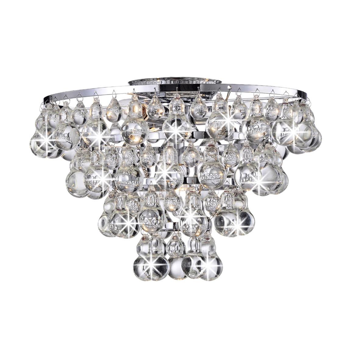 Flush Mount Chandeliers Crystal