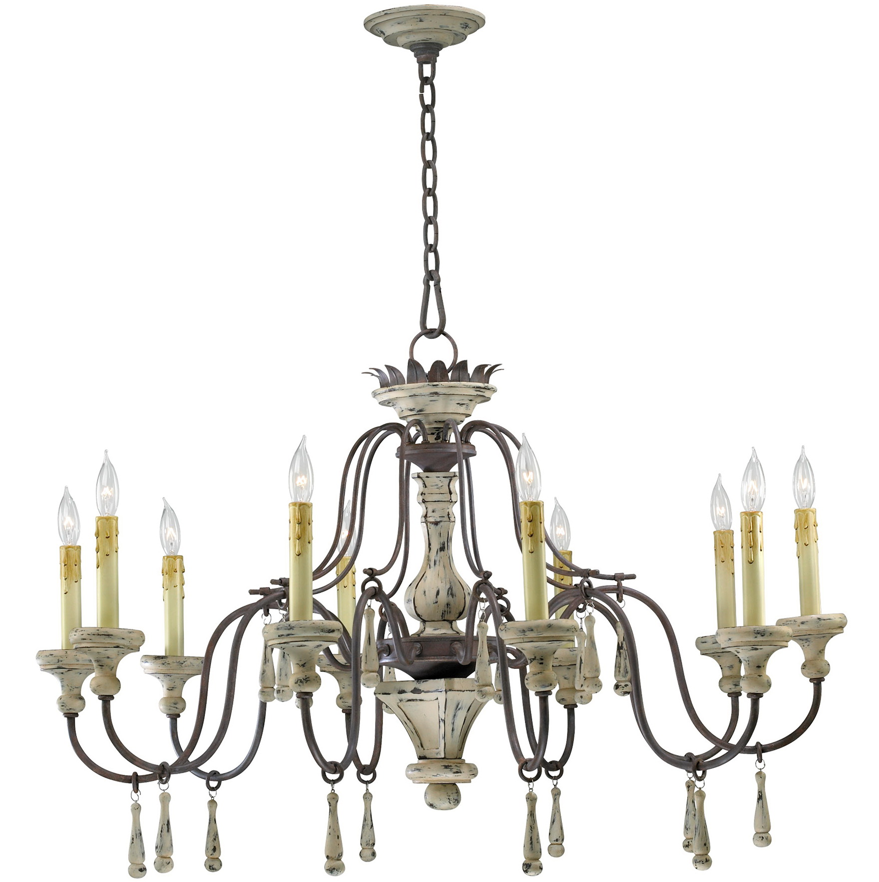 French Country Chandeliers White