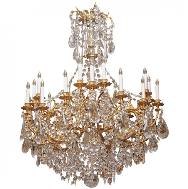 French Crystal Chandeliers Vintage