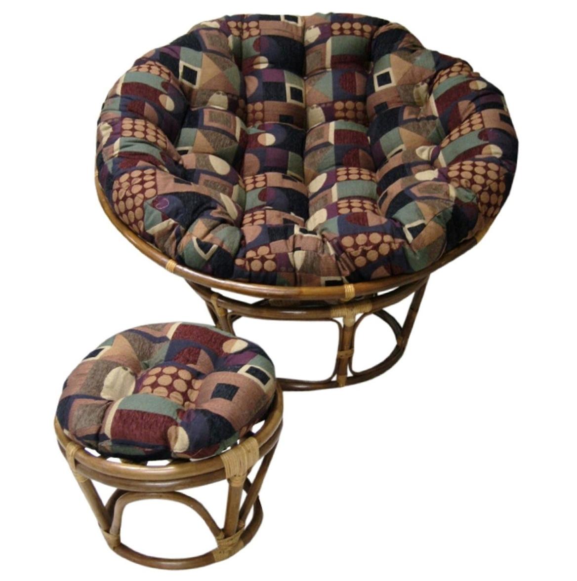 Fuzzy Papasan Chair Cushion