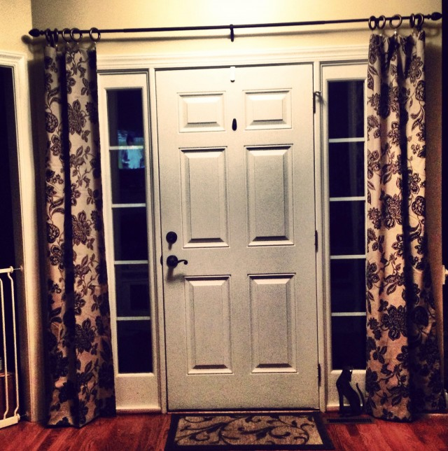 Glass Front Door Curtains