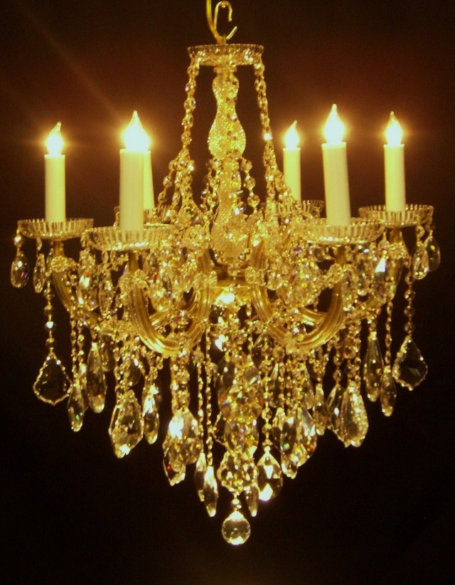 Gold Crystal Chandelier Lights