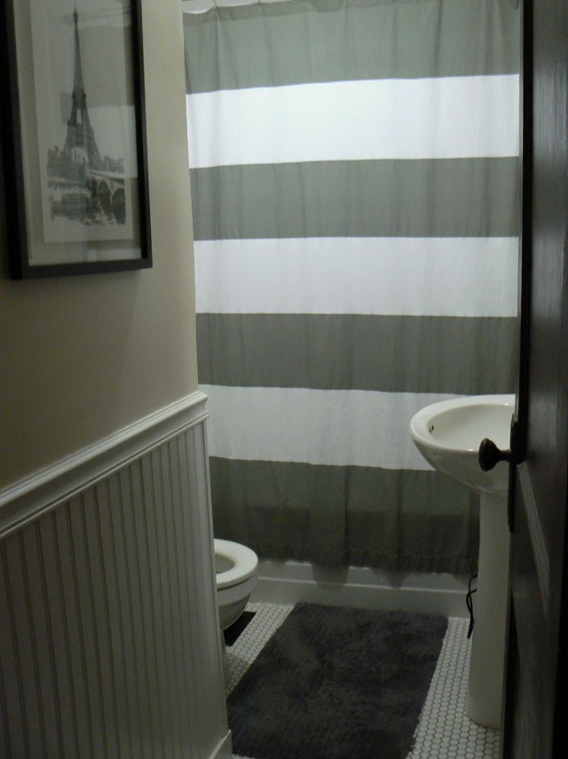 Grey And White Shower Curtains