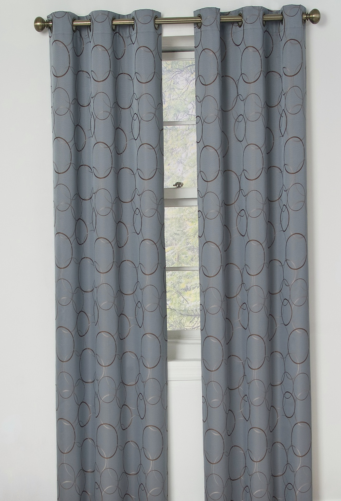 Grey Blackout Curtains Grommet
