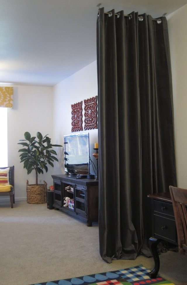 Hanging Curtains From Ceiling As Room Divider