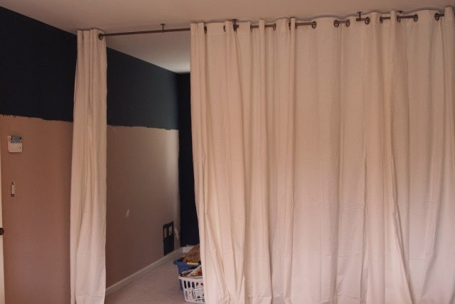 Hanging Curtains From Ceiling To Separate A Room