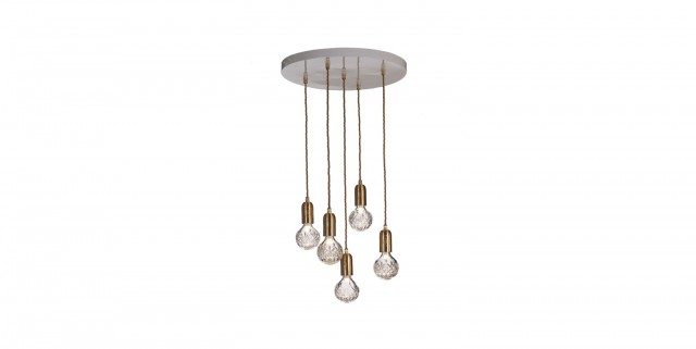 Hanging Light Bulb Chandelier