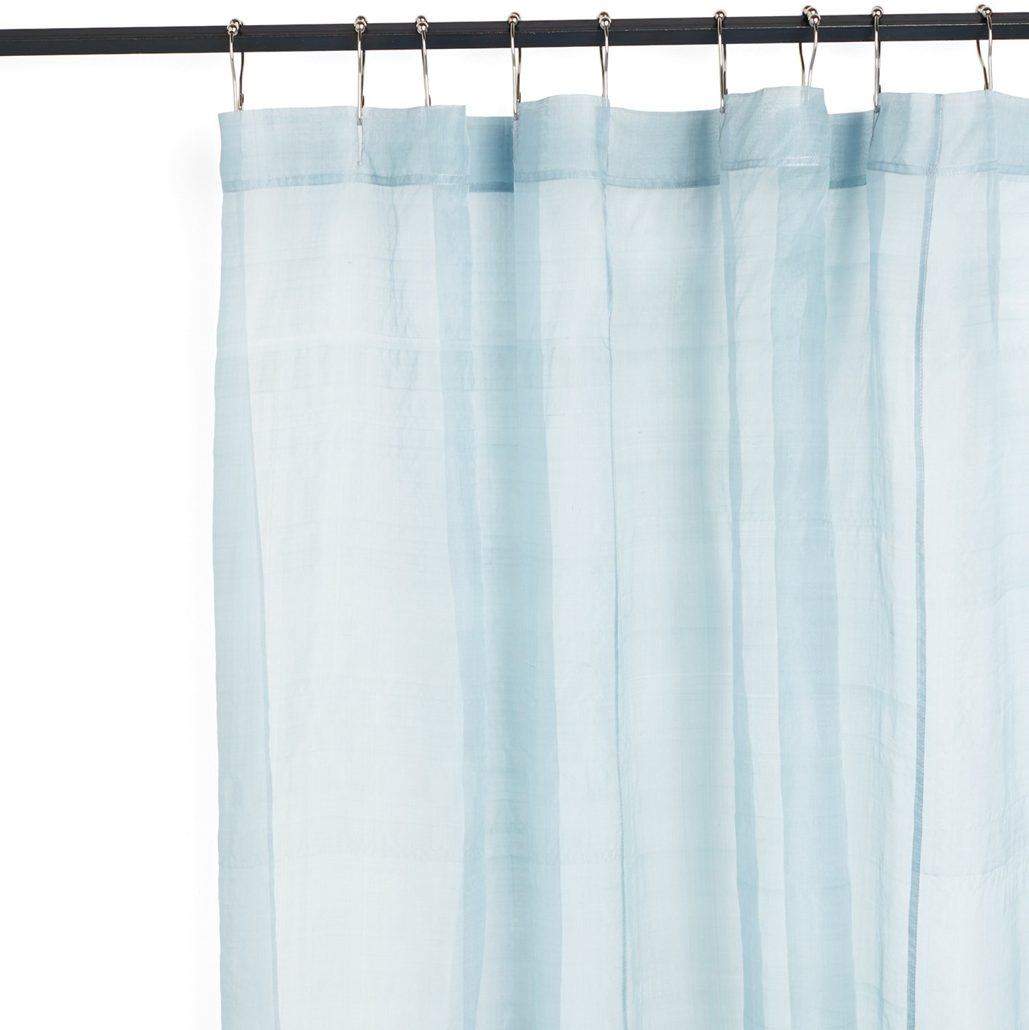 Light Blue And Brown Curtains