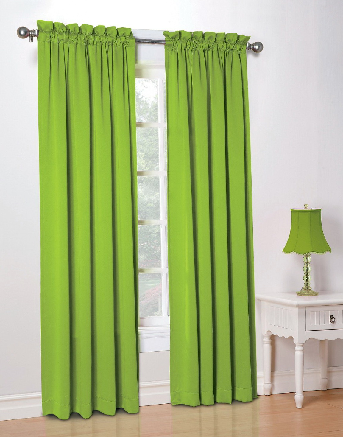 Lime Green Curtain Panels