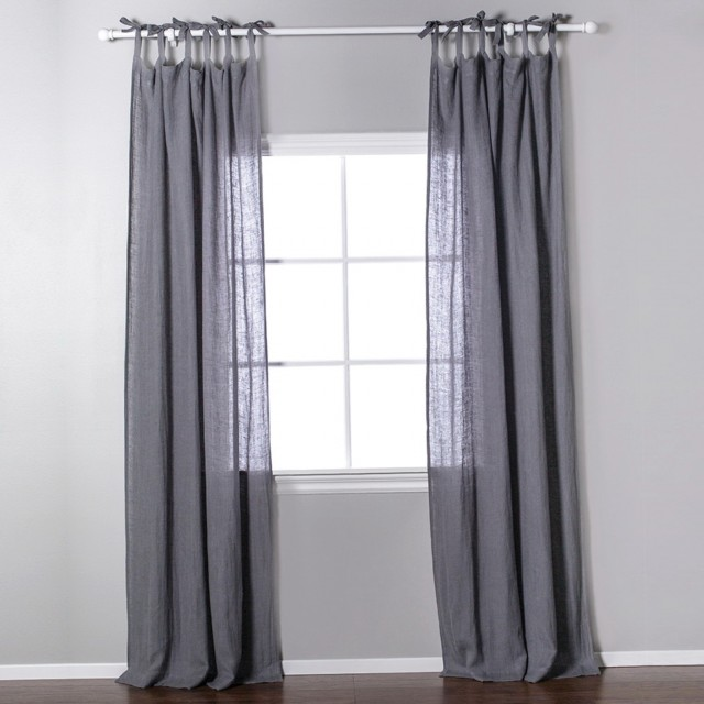 Linen Tie Top Curtains