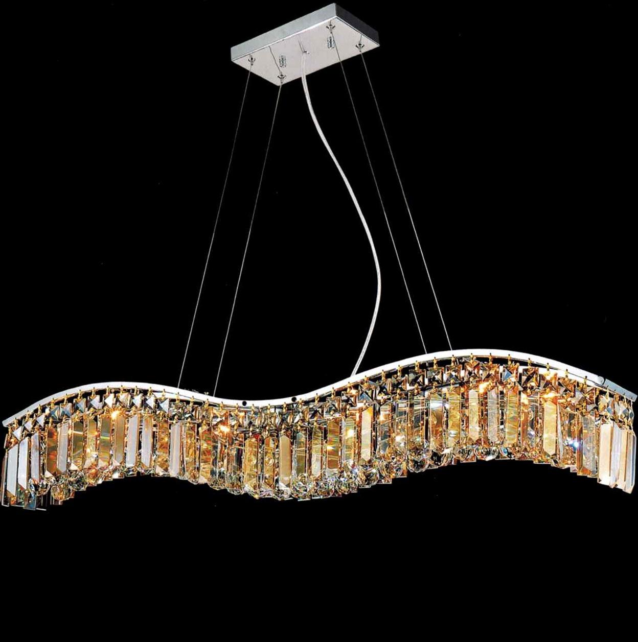 Modern Crystal Chandelier Rectangular
