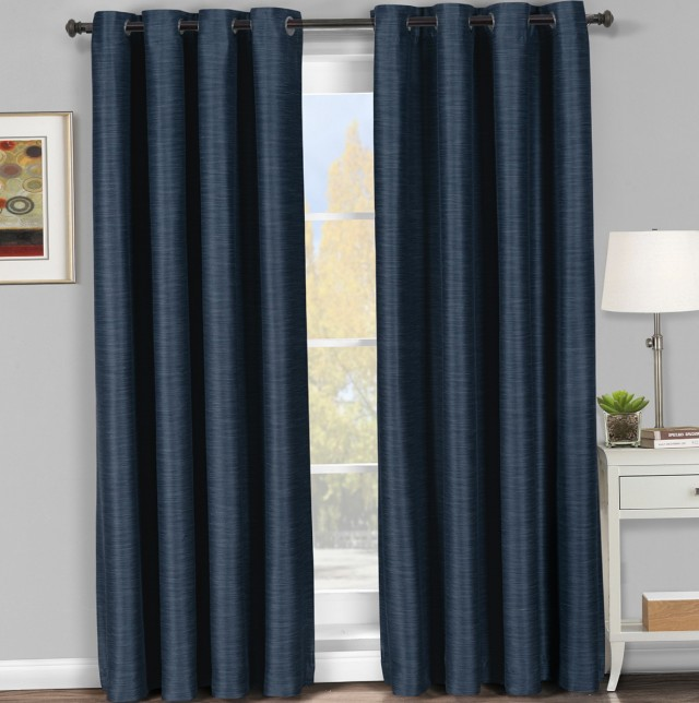 Navy Blackout Curtains 108