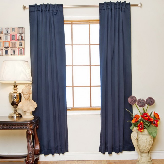 Navy Blackout Curtains 96