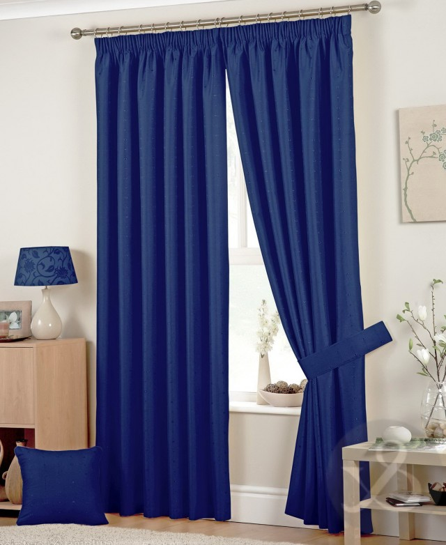 Navy Blue And Brown Curtains
