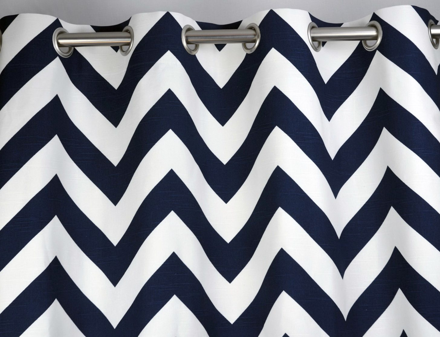 Navy Blue And White Chevron Curtains
