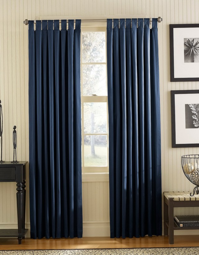 Navy Blue Blackout Curtains