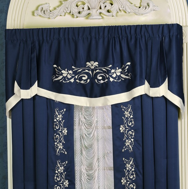 Navy Blue Kitchen Curtains