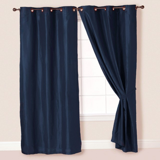 Navy Curtains With Grommets