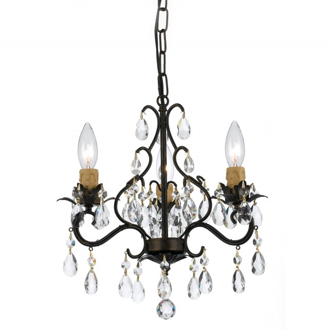 Oil Rubbed Bronze Chandelier With Crystals
