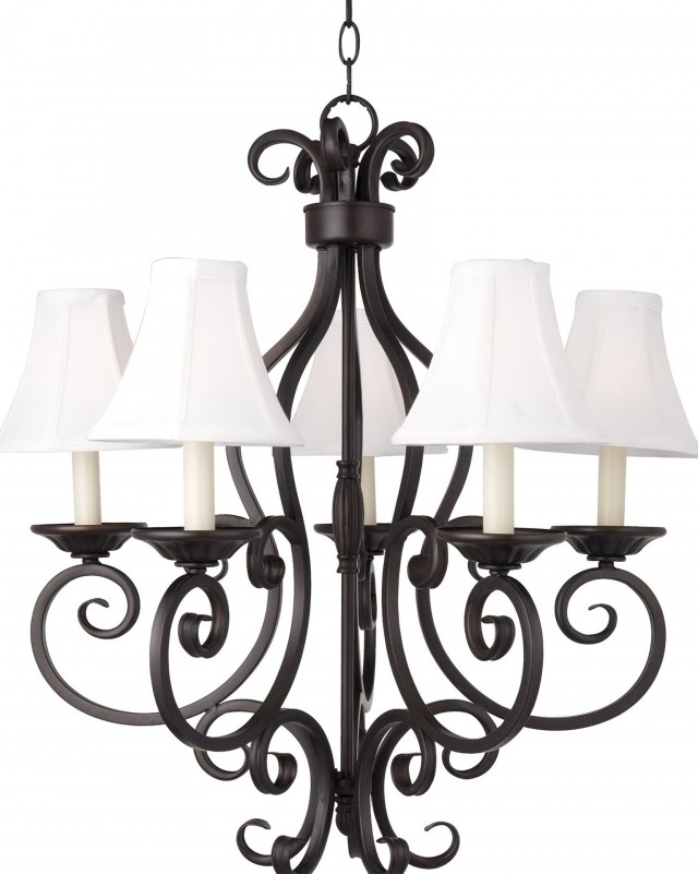 Oil Rubbed Bronze Chandelier With Shades