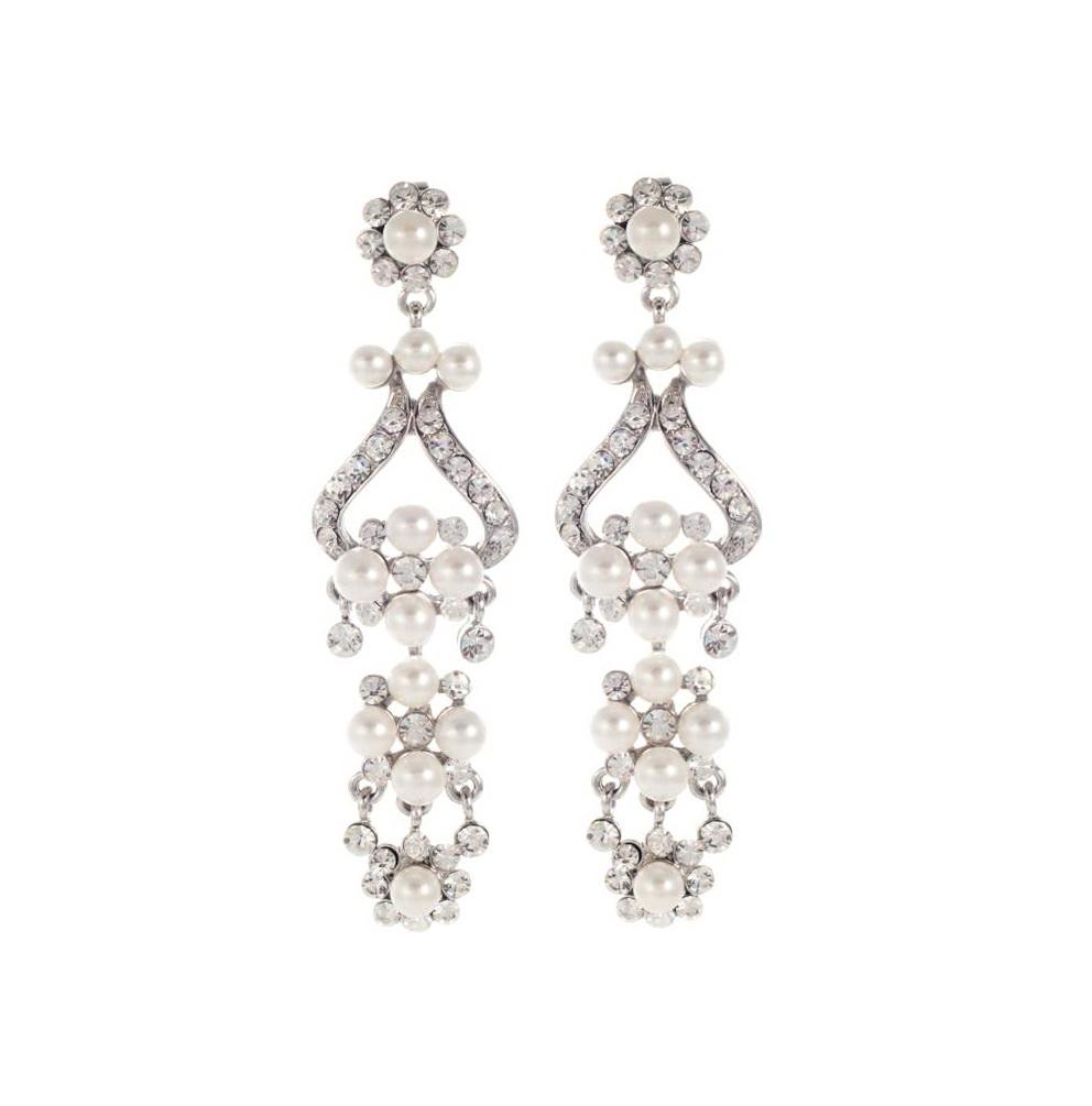 Pearl Chandelier Earrings Wedding